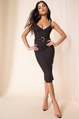 Brice Belted Midi Dress