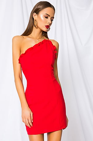 Elizabeth One Shoulder Dress