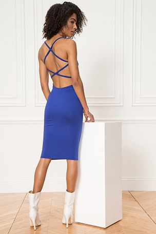 Reigh Strappy Midi Dress