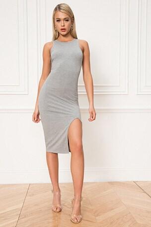 Chanse Slit Midi Dress