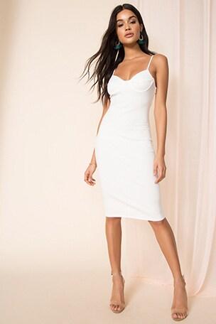 Leona Rib Midi Dress