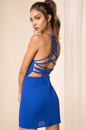 Esra Lace Back Dress