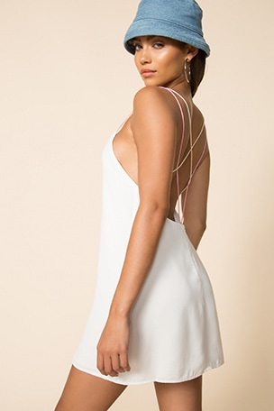 Breanna Strappy Shift Dress