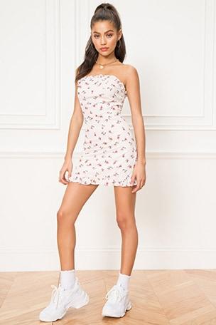 x REVOLVE Klaudia Tie Back Mini Dress