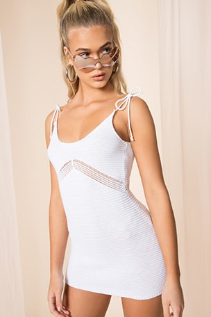 Lana Crochet Mini Dress