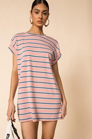 Katrina Stripe Shirt Dress