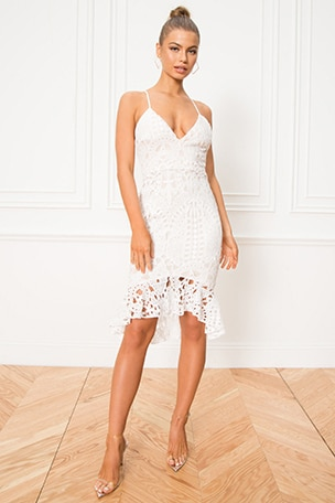 Tina Ruffle Midi Dress