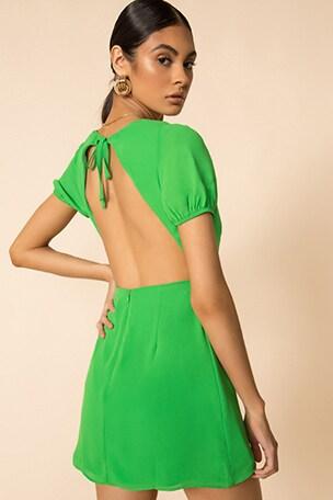 Anais Open Back Dress