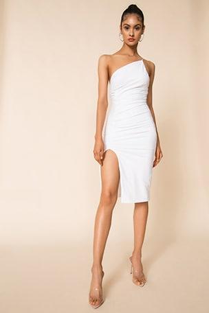 Brynn Ruched Midi Dress