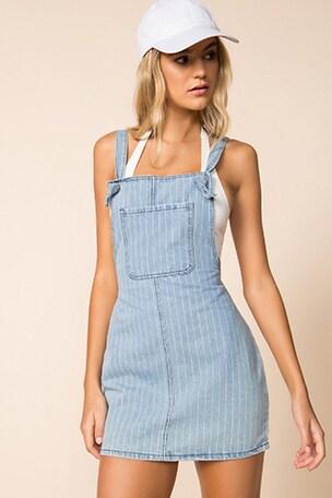 Ida Overall Denim Dress