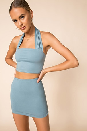 Madelyn Halter Skirt Set
