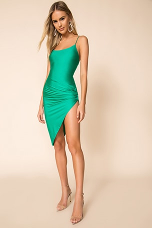 Eva Twisted Slit Dress