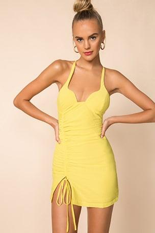 Irina Ruched Mini Dress