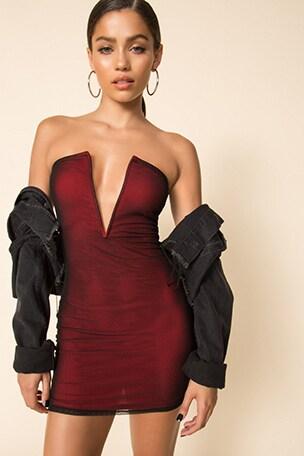 Jorden Mesh Mini Dress
