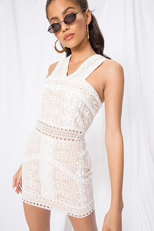 Pauline High Neck Dress