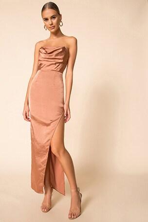 Farah Satin Maxi Dress