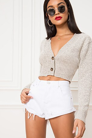 Lulu Mid Rise Denim Shorts