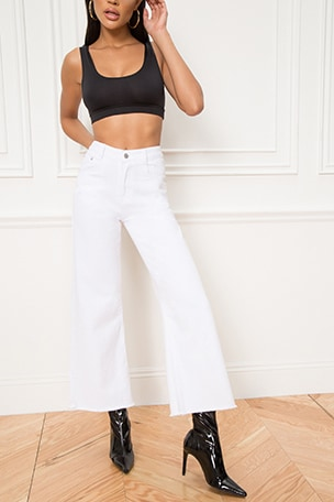 Lucy Crop Flare Jeans