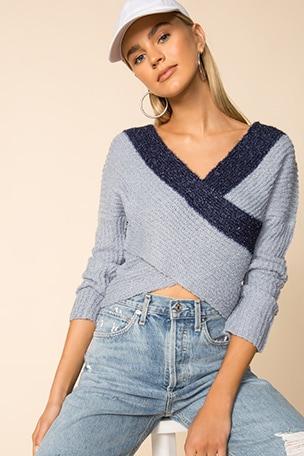 Lanah Wrap Sweater