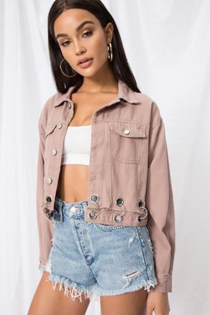 Kylie Crop Denim Jacket