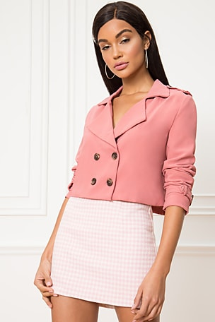 Ariel Crop Trench Coat