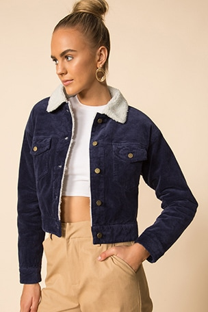 Elena Cropped Trucker Jacket