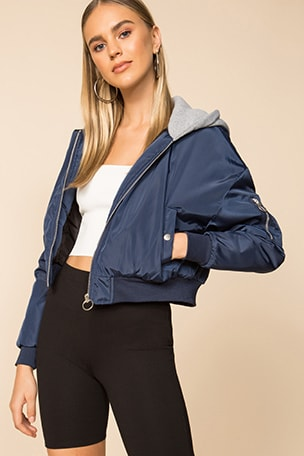 Raquel Cropped Hooded Jacket