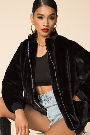 x Draya Michele Camilla Oversized Jacket
