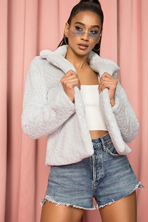 Roxy Faux Fur Coat