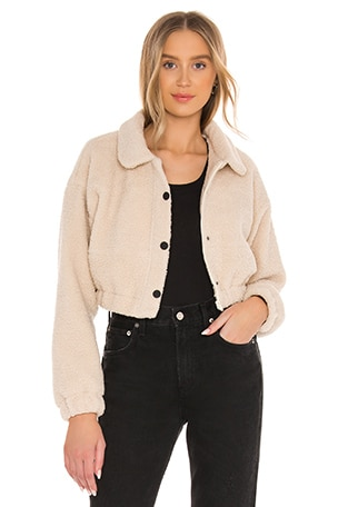 Nancy Teddy Bomber Jacket
