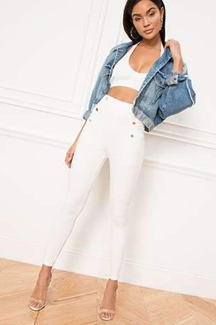 Sadie Side Button Pant