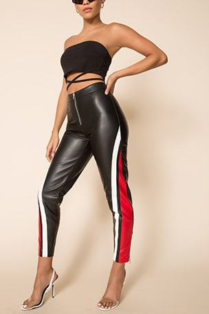 Janica Faux Leather Pant