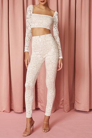 Justene Sheer Lace Pant