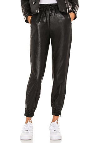 Rinah Leather Jogger Pant