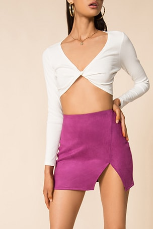 Trinity Faux Suede Skirt