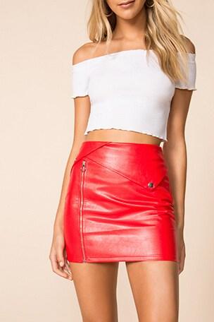 Wendy Moto Mini Skirt