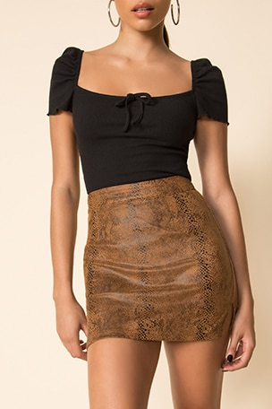 Stella Slit Mini Skirt