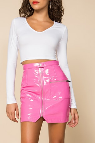 Simone Zip Mini Skirt