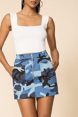 Cade Camo Skirt