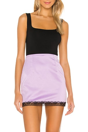 Meredith Lace Trim Skirt
