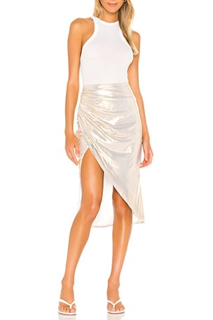 Topanga Slit Midi Skirt