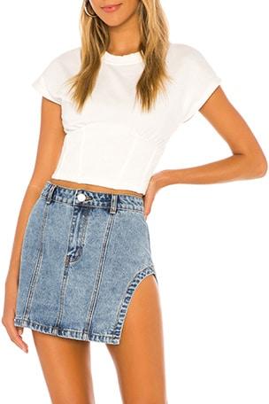 Abby Slit Mini Skirt