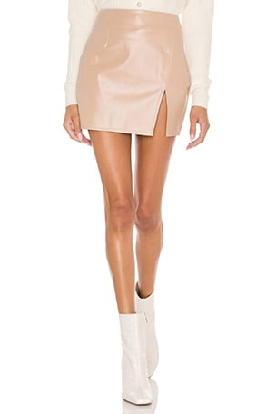 Trinity Faux Leather Skirt