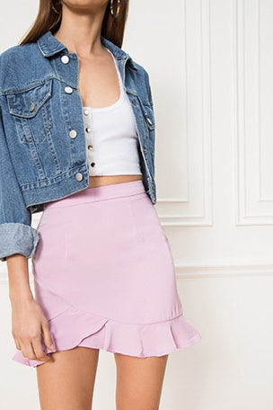 Milan Ruffle Mini Skirt