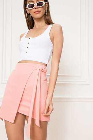 Monica Wrap Tie Skirt