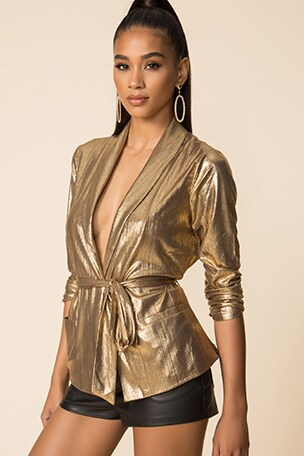 x Draya Michele Desiray Tie Blazer