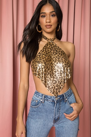 x Draya Michele Tate Chain Crop Top