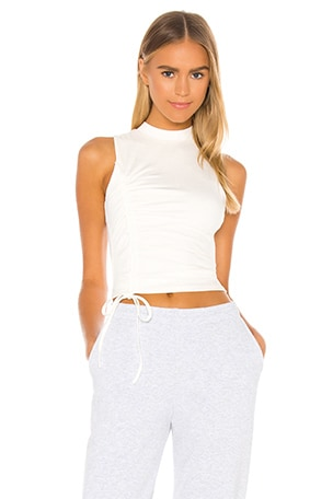 Halsey Ruched Racer Top