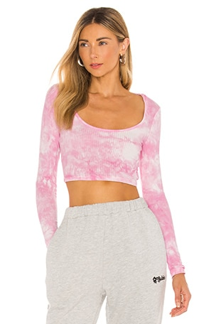 Laurie Crop Top in PinkTie Dye