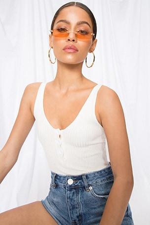 Teyana Button Front Bodysuit